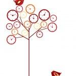 arbre d'horloge — Vecteur