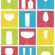 Royalty-Free Stock Imagem Vetorial: Drinking glasses