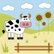 Cow — Stock Vector #1093770