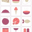 Royalty-Free Stock Vectorielle: Food icons
