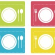 Royalty-Free Stock Vectorielle: Restaurant icons