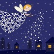 Royalty-Free Stock Vector Image: Night fairy