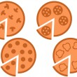 Royalty-Free Stock Vector Image: Pizza