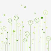 Clock flowers — Stock Vector