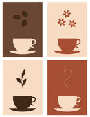 Coffee and tea — Stock Vector