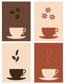 Coffee and tea — Stock Vector