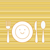 Dinner set — Vector de stock