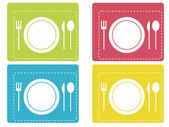 Restaurant pictogrammen — Stockvector