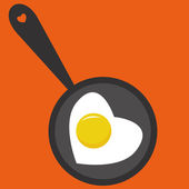 Fried egg — Stock Vector