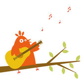 Singing a song — Stock Vector