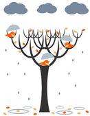 Rain birds — Stock Vector