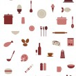 Food And Kitchen Icons — Stock Vector