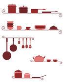 Kitchen shelves — Stock Vector