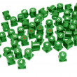 Red numbers on green buttons — Stock Photo