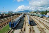 Long-distance trains — Stock Photo