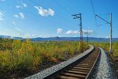 Turn of the railway — Stock Photo