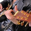 Musician plays his acoustic guitar — Stock Photo #1531671