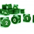 Numbers on green buttons — Stock Photo