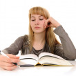Young woman reading book — Stock Photo #2213984