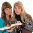 Girls With Book — Stock Photo #2485502