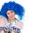 Royalty-Free Stock Photo: Woman wearing Blue wig