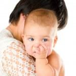 mastigação dedo de bebê — Foto Stock