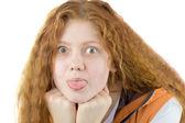 Rude teenager — Stock Photo
