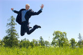 Jumping man — Stockfoto
