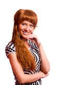 Redhead woman — Stock Photo