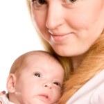 Annesi holding bebek — Stok fotoğraf