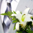 Buttonhole with lily — Stock Photo