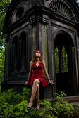 Gothic girl — Stock Photo