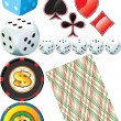 Royalty-Free Stock Imagen vectorial: Casino set