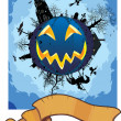 Royalty-Free Stock Vektorfiler: Grim halloween card