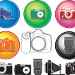 Stock Vector: Different photocamera