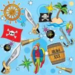 Vector Pirate background — Stock Vector