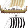 Stock Vector: Viking ship.