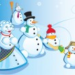 Royalty-Free Stock Vector Image: Snowman family