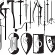 Silhouettes of weapons - Image vectorielle