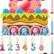 Celebratory cake - Stock Vector