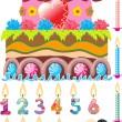 Celebratory cake — Stock Vector