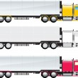 Side view of a big truck - Stock Vector