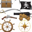 Royalty-Free Stock Imagen vectorial: Pirate icon set