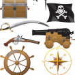 Pirate icon set - Stock Vector