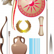 Stock Vector: Ancient Greece set