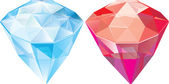 Κοσμήματα. ζαφείρι. ρουμπίνι — Διανυσματικό Αρχείο