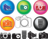 Different photocamera — Stock Vector