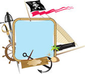 Decorative Pirate frame — Stock Vector