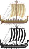 The Viking ship. — Stock Vector