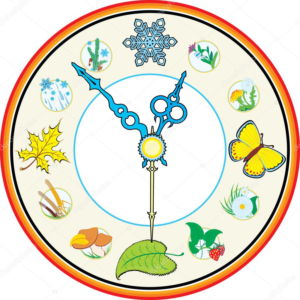 Часы времена года